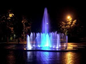 fontana luminosa e modulante