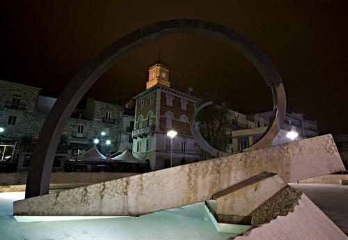 Atessa - fontana in notturna (particolare)