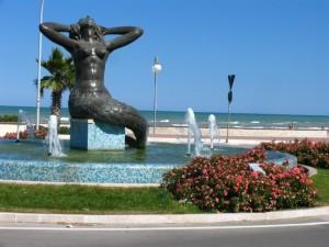 Tortoreto-Lido  new fountain, Abruzzo Italy.