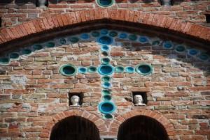 Particolare della facciata di San Pietro