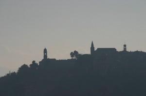 Silhouette delle chiese di Mondavio