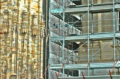 Milano - Impalcatura al Duomo
