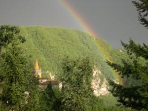 Chiesa di Rosola dopo la tempesta