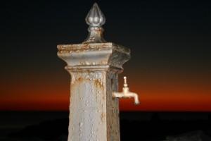 fontan al tramonto