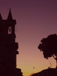 chiesa via del sacro cuore profilo del campanile