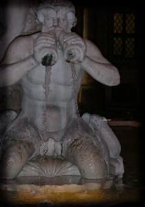 Spruzzando acqua,piazza navona