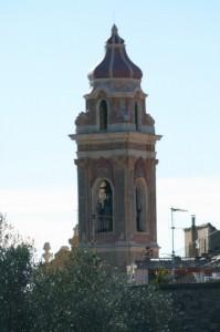 Particolare della chiesa di Cervo