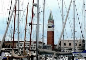 Venezia: il campanile (veduta dall'Isola di San Giorgio)