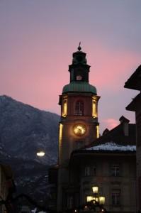 Tramonto su Bolzano