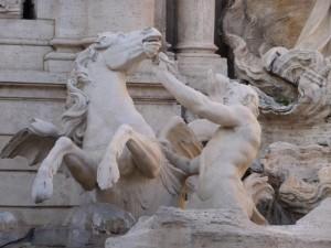 La perfezione in un particolare di fontana di Trevi