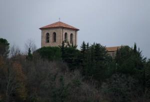 San Vincenzo al Volturno in una giornata grigia