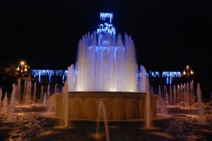 Fontana in Piazza Castello- Dicembre 2007