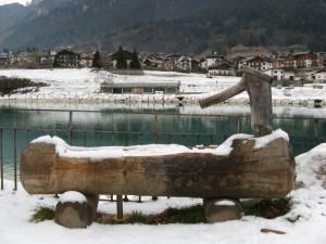 Fontana con neve