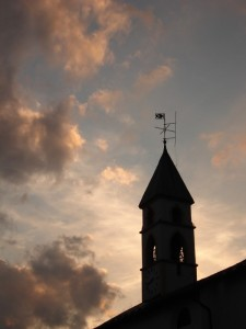 Silhouette campanile Laggio