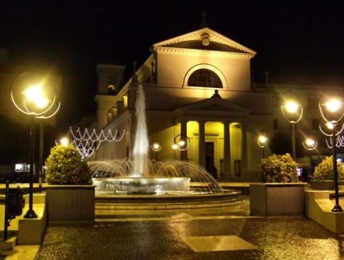 Anzio - Colori  Della Notte Chiesa S.Antonio e Fontana