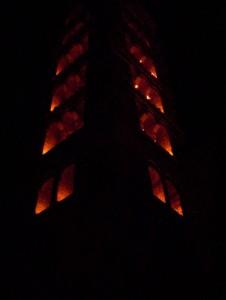 Campanile illuminato
