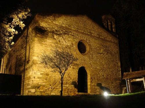 Vicenza - a notte cala su San Giorgio