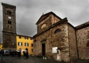 Funerale alla pieve Di San Pietro e Marco