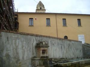Particolare del Monastero di Orsoleo e della fontana