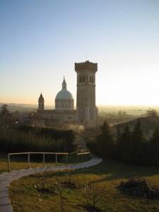 La basilica nella foschia