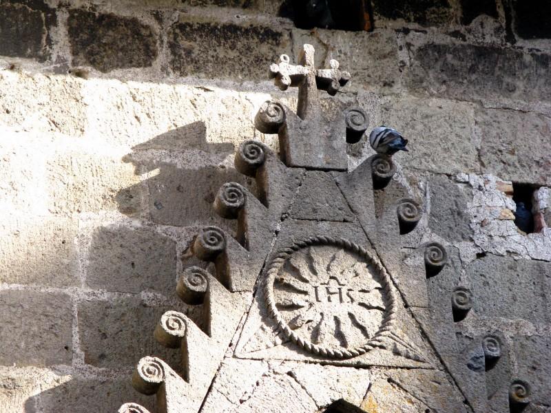 ''Particolare portone della chiesa.'' - Vitorchiano