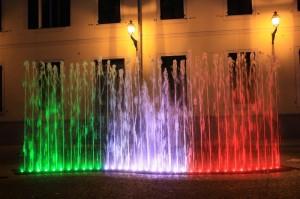 La fontana tricolore di Novi Ligure