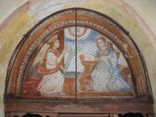 Campertogno - L'annunciazione nella via crucis del Callone