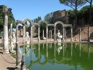 Fontana di villa Adriana.