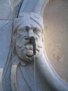 dettaglio fontana del Mosè