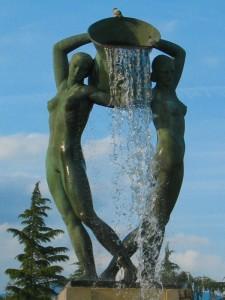 Fontana Luminosa di giorno
