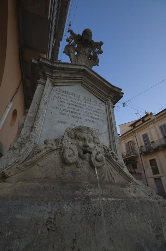 ''Fontana dedicata a Papa Clemente XIII'' - Genzano di Roma