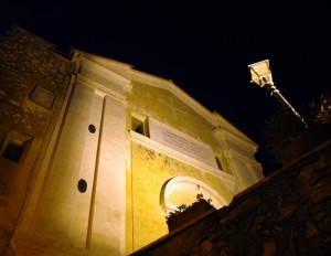 Rocca Canterano by night - Santa Maria Assunta