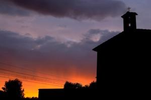 Chiesa di San Carlo, Rione Palazzaccio, al tramonto
