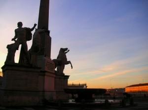 Un tramonto per i Dioscuri.