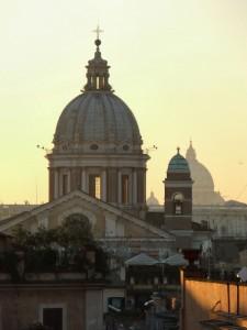 Cupole con Sfondo di San Pietro