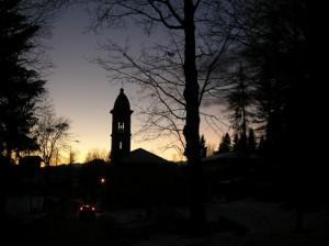 Crepuscolo alla chiesetta di Luciago