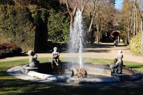 Galzignano Terme - parco con fontana