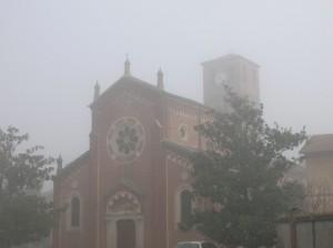 chiesa di San Lorenzo nella nebbia