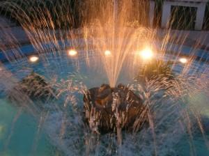 Getti d'acqua della fontana