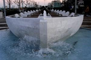 Fontana del lungomare di Riccione