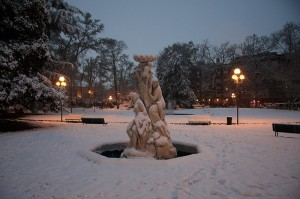 le Naiadi sotto la neve