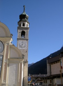 Campanile chiesa di Canale d'Agordo