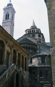 Scorcio della Basilica di Santa Maria Maggiore a Bergamo