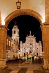 Ingresso alla Santa Casa di Loreto Ancona