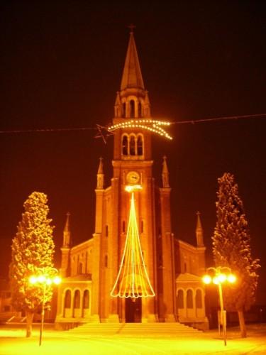 Quinto di Treviso - F104 - Chiesa di Santa Cristina Vergine e Martire durante la nevicata del 1 gen 2009