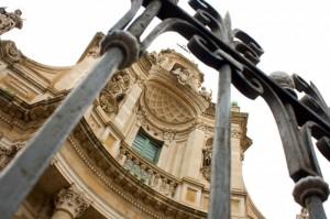 Catania - La Collegiata in una Giornata Uggiosa