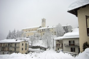 Pamparato mentre nevica