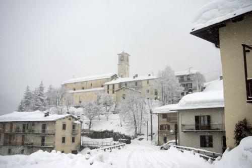 Pamparato - Pamparato mentre nevica