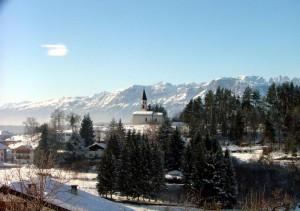 Panoramica sul Brenta dalla chiesa.