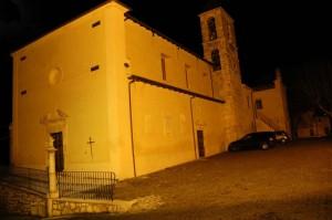 Chiesa di Castelnuovo in notturna